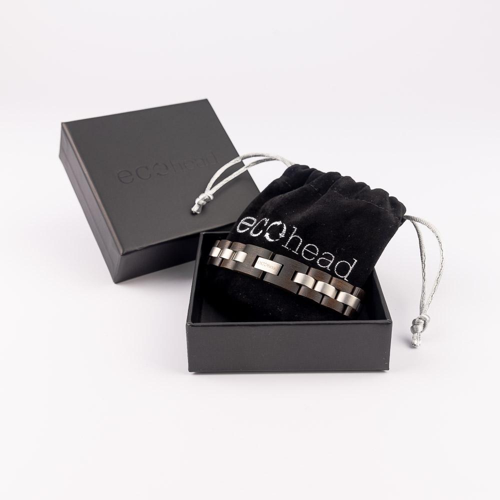 Ecohead Náramok na ruku - Black Santal s krabičkou gift box