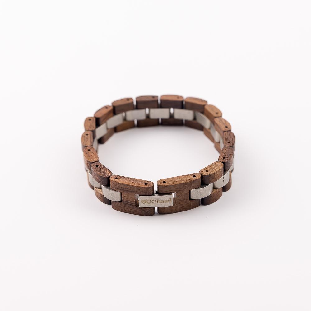 Ecohead Náramok na ruku - Brown Silver without box