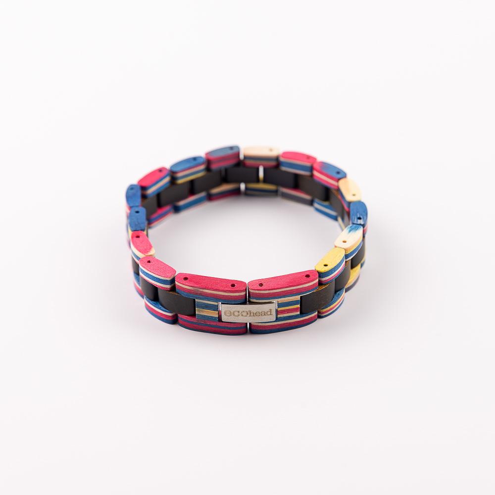 Ecohead Náramok na ruku - Ebony Rainbow without box