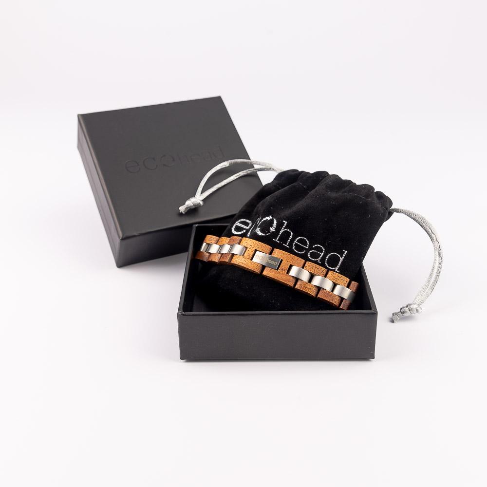Ecohead Náramok na ruku- Mahagony Power s krabičkou gift box
