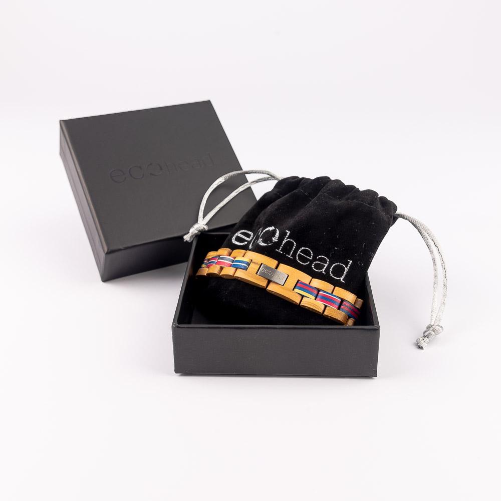Ecohead Náramok na ruku - Rainbow in the midle Sky s krabičkou gift box