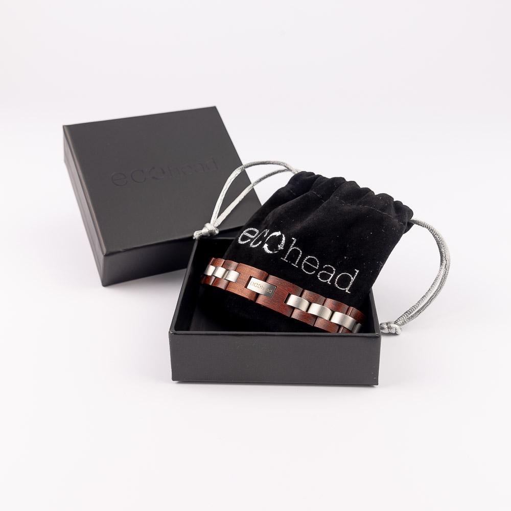 Ecohead Náramok na ruku - Red Santal s krabičkou gift box