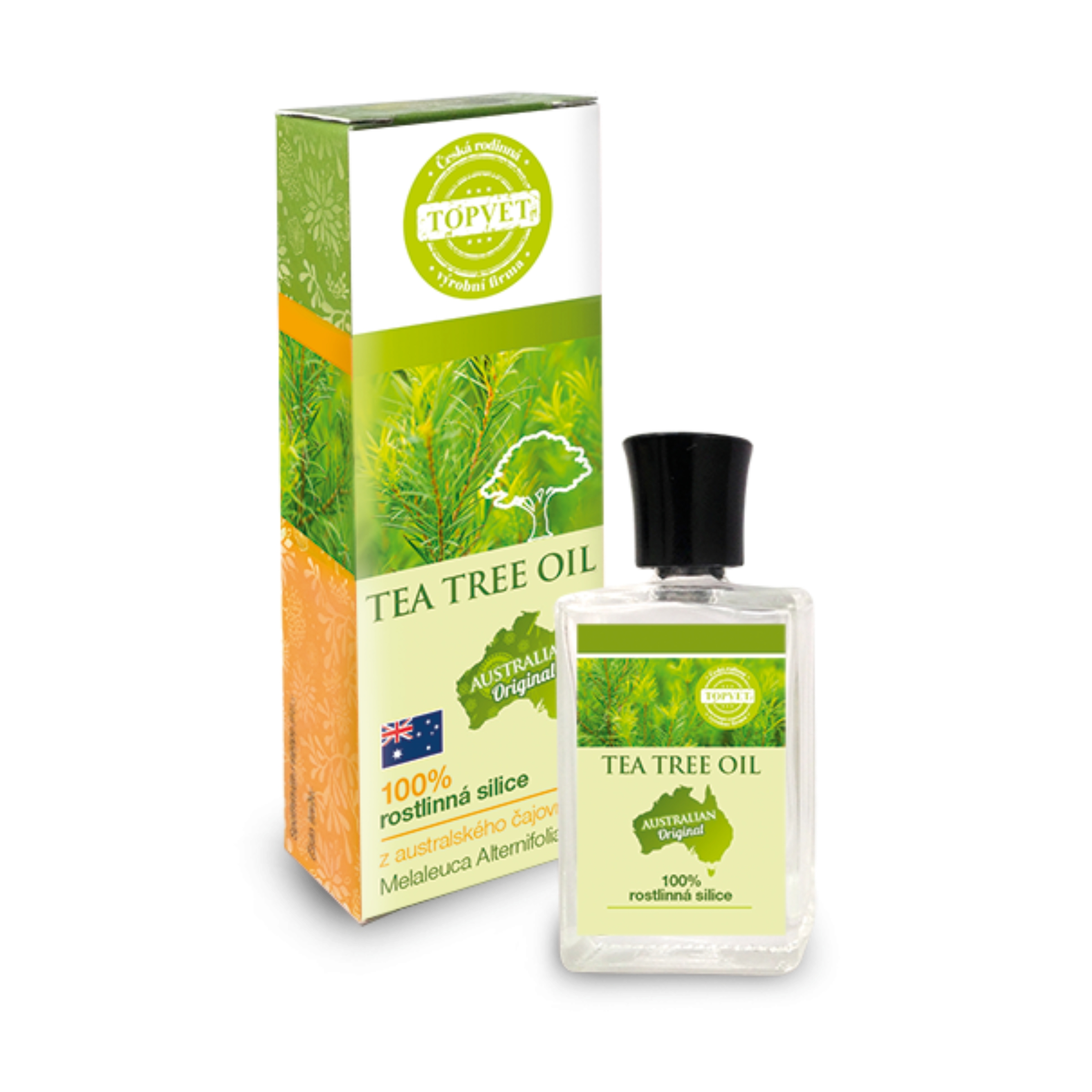 TOPVET Tea tree oil - éterický olej - rastlinná silica 10 ml 10 ml