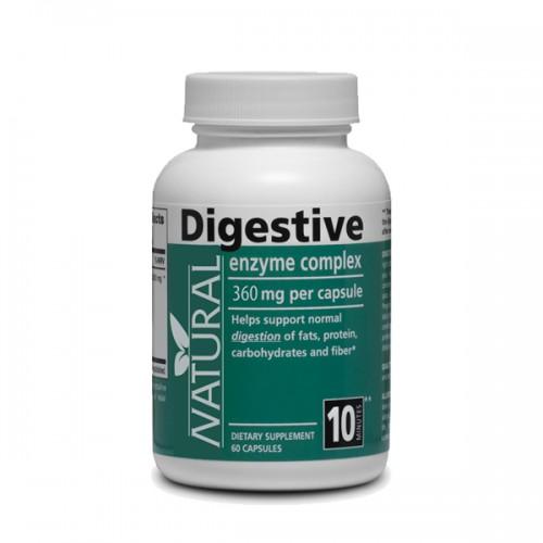 Natural Tráviace enzýmy 360 mg, 60 kapsúl 60 kapsúl
