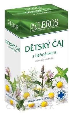 LEROS, s r.o. LEROS Detský čaj s rumančekom záparové vrecúška 20x1,5 g (30 g) 20 x 1.5 g