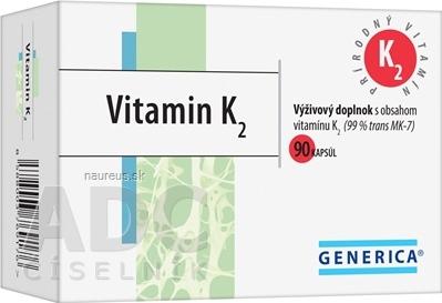 GENERICA spol. s r.o. GENERICA Vitamin K2 90 ks