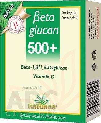 NATURES s.r.o. NATURES Betaglucan 500+ cps 1x30 ks 30 ks