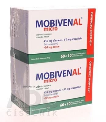 MOBIVENAL micro tbl flm 2x 60+10 zadarmo (140 ks) 1x1 set