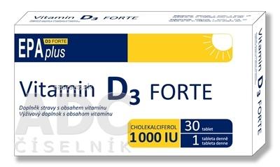 ALFA VITA, s.r.o. ALFA VITA Vitamin D3 FORTE 1000 I.U. EPAplus tbl 1x30 ks