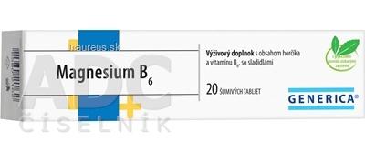 GENERICA spol. s r.o. GENERICA Magnesium B6 tbl eff 1x20 ks 20 ks