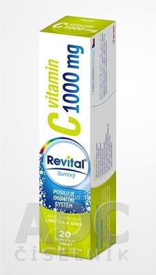 VITAR s.r.o. Revital vitamín C 1000 mg šumivý tbl eff s príchuťou limetky a grepu 1x20 ks 20 ks