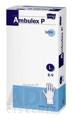 Torunskie Zaklady Materialow Opatrunkowych S.A. Ambulex P rukavice LATEXOVÉ, potiahnuté polymérom veľ. L, nesterilné, nepúdrované 1x100 ks