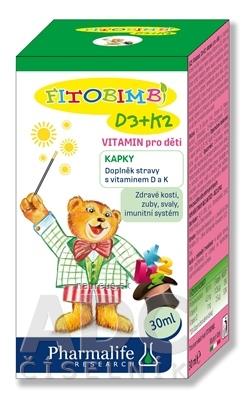 Pharmalife Research s.r.l. Pharmalife Vitamín D3 + K2 pre deti kvapky 1x30 ml