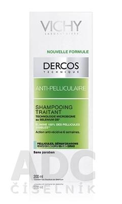 VICHY Laboratoires VICHY DERCOS ANTI-PELLICULAIRE Šampón proti mastným lupinám, normálne vlasy (M0363600) 1x200 ml 200 ml