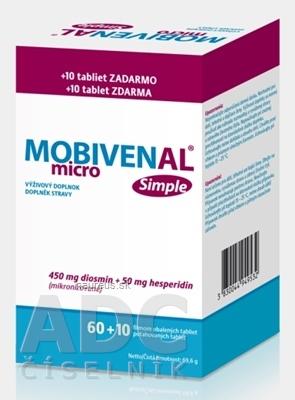 Vyrobené v EÚ MOBIVENAL micro Simple tbl flm 60+10 zadarmo (70 ks)