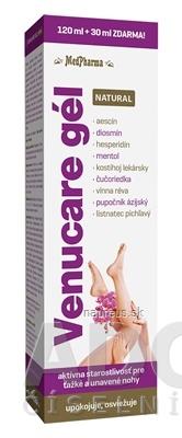 MedPharma, spol. s r.o. MedPharma VENUCARE GÉL NATURAL gél 120 ml+30 ml zdarma (150 ml) 150 ml