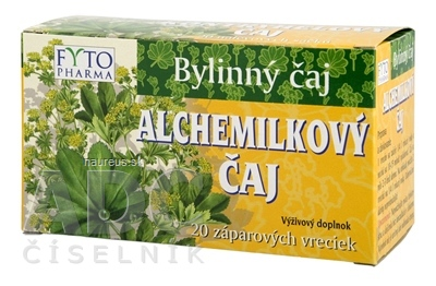 FYTOPHARMA, a.s. FYTO ALCHEMILKOVÝ ČAJ 20x1 g (20 g) 20 x 1 g