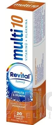 VITAR s.r.o. Revital multi 10 vitamínov + vláknina šumivý tbl eff s príchuťou pomaranč 1x20 ks 20 ks
