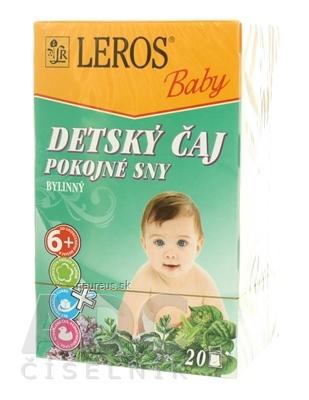LEROS, s r.o. LEROS BABY DETSKÝ ČAJ POKOJNÉ SNY 20x1,5 g (30 g) 20 x 1.5 g