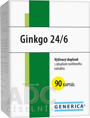 GENERICA spol. s r.o. GENERICA Ginkgo 24/6 cps 40 mg 1x90 ks 90 ks