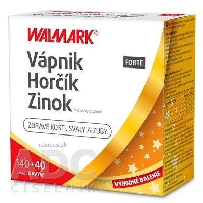 WALMARK, a.s. WALMARK Vápnik Horčík Zinok FORTE PROMO 2020 tbl 140+40 ks navyše (180 ks)