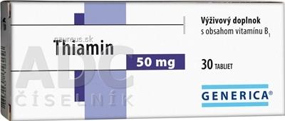 GENERICA spol. s r.o. GENERICA Thiamin 50 mg tbl 1x30 ks 30 ks