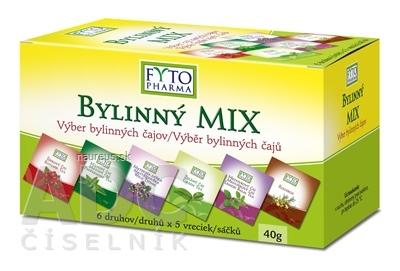 FYTOPHARMA, a.s. FYTO BYLINNÝ MIX 6 druhov čajov po 5 vrecúšok, 1x1 set 30 ks