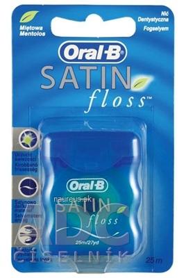 Oral-B SATIN floss ZUBNÁ NIŤ mentolová, 25 m, 1x1 ks