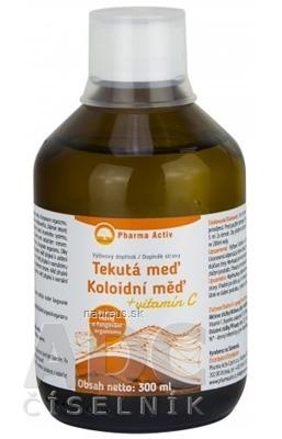 Natural Pharm Slovakia s.r.o. Pharma Activ Tekutá meď + vitamín C 1x300 ml 300 ml