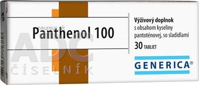 GENERICA spol. s r.o. GENERICA Panthenol 100 tbl 1x30 ks 30 ks