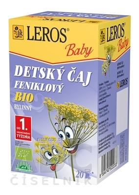 LEROS, s r.o. LEROS BABY DETSKÝ ČAJ BIO FENIKLOVÝ 20x1,5 g (30 g) 20 x 1.5 g