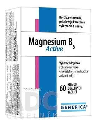GENERICA spol. s r.o. GENERICA Magnesium B6 Active tbl 1x60 ks 60 ks