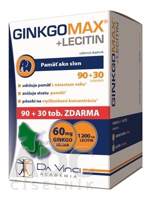 Simply You Pharmaceuticals a.s. GINKGO MAX + LECITIN - DA VINCI 120 ks