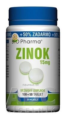 BIO-Pharma s.r.o. BIO Pharma Zinok 15 mg tbl 100+50 (50% ZADARMO) (150 ks) 150 ks