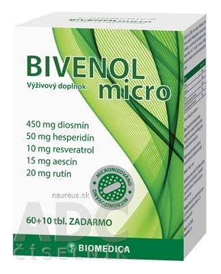 BIOMEDICA BIVENOL micro tbl 60+10 zadarmo (70 ks)