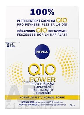 Beiersdorf Manufacturing Sp. z o.o. NIVEA Spevňujúci denný krém Q10 POWER SPF15 proti vráskam, normálna pleť 1x50 ml 50ml