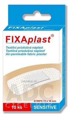 ALFA VITA, s.r.o. FIXAplast SENSITIVE strip textilná priedušná náplasť 72x19 mm, 1x10 ks 10 ks