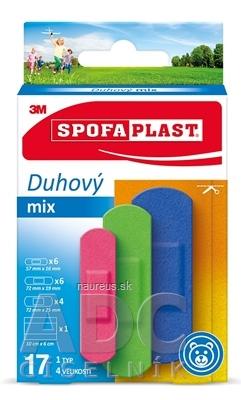3M Česko, spol. s r.o. 3M SPOFAPLAST č.606 Náplasti Dúhový mix 1 typ, 4 veľkosti, 1x17 ks
