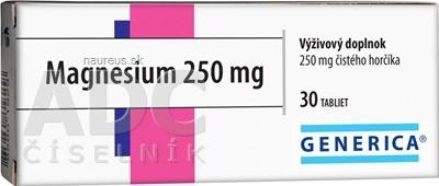 GENERICA spol. s r.o. GENERICA Magnesium 250 mg tbl 1x30 ks 30 ks