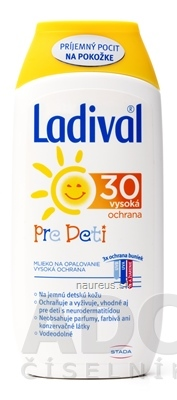 STADA Pharma GmbH Ladival PRE DETI SPF 30 mlieko na ochranu proti slnku 1x200 ml 200 ml