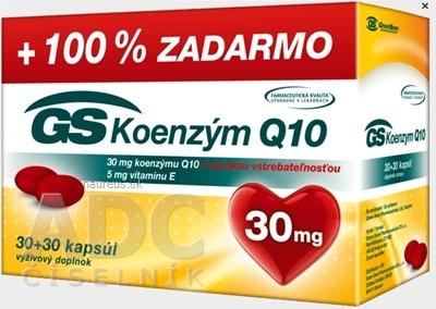GREEN - SWAN PHARMACEUTICALS CR, a.s. GS Koenzým Q10 30 mg cps 30+30 zadarmo (60 ks) 60 ks