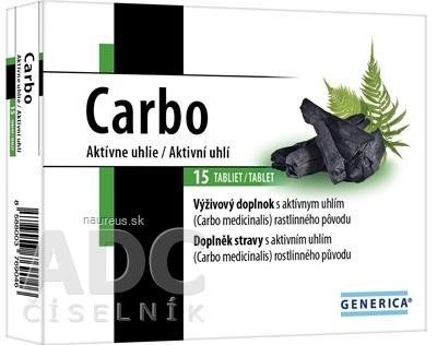 GENERICA spol. s r.o. GENERICA Carbo tbl 1x15 ks 15 ks