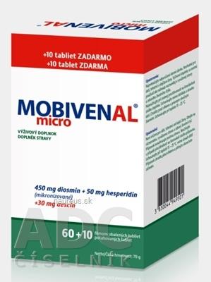 Vyrobené v EÚ MOBIVENAL micro tbl flm 60+10 zadarmo (70 ks)
