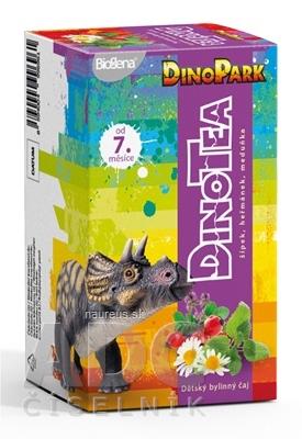 BIOGENA CB spol. s r.o. Biogena DinoTea šípka, rumanček, medovka detský bylinný čaj (od ukonč. 7. mesiaca), nálevové vrecúška 20x1,5 g (30 g)