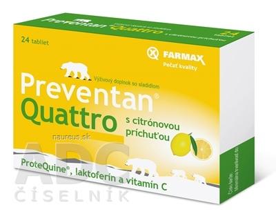 SVUS Pharma a.s. FARMAX Preventan Quattro s citrónovou príchuťou tbl 1x24 ks 24 ks