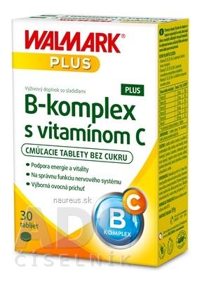 WALMARK, a.s. WALMARK B-komplex PLUS s vitamínom C tbl cmúľacie (inovovaný obal 2018) 1x30 ks 30 ks