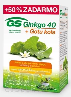 GREEN - SWAN PHARMACEUTICALS CR, a.s. GS Ginkgo 40 + Gotu kola tbl 80+40 zadarmo (120 ks) 120 ks