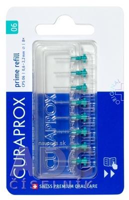 Curaden International AG CURAPROX CPS 06 prime refill tyrkysová medzizubné kefky bez držiaka 1x8 ks 8 ks
