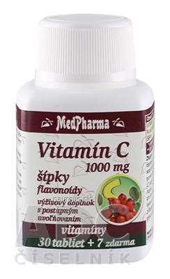 MedPharma, spol. s r.o. MedPharma VITAMÍN C 1000 MG so šípkami tbl (s postup.uvoľňovaním) 30+7 zadarmo (37 ks) 37 ks