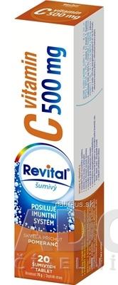 VITAR s.r.o. Revital vitamín C 500 mg šumivý tbl eff s príchuťou pomaranč 1x20 ks 20 ks